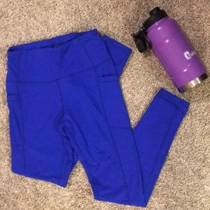 ethos Pants - Full length cobalt blue workout leggings